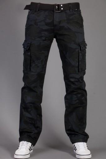 BojÓwki moro + pasek 2096-1 rozm. 38 fashionmen2 7771709845 Odzież Męska Spodnie FY OMSUFY-4