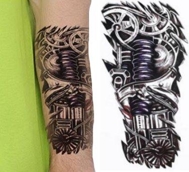Biomechanika Naklejany Tatuaż Wodny Robot Tm123