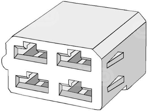 KUBAS MOTERISKA SANDURI 4-pin na SKAIDRES 6,3mm