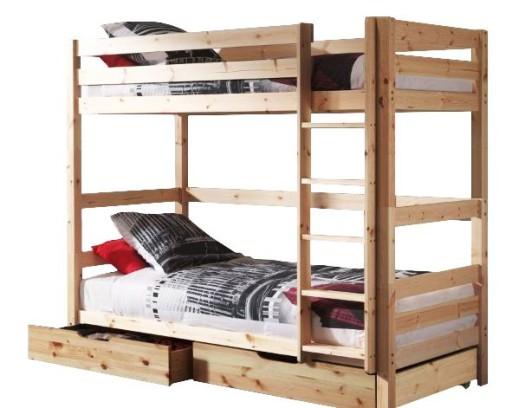 łóżko Piętrowe Dla Dorosłych Materace 200x90 Mocne