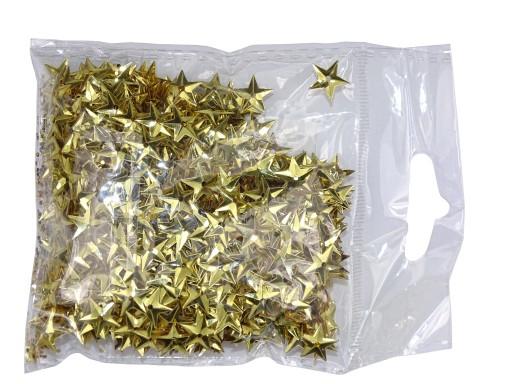 Cekiny gwiazdki złote 11 mm (15 g) Wypukłe