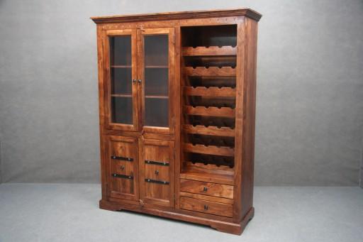 Witryna Drewniana Akacja Regał Wino Komoda Oxford 7307055073