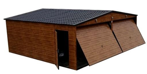 Garaże Blaszane Drewnopodobne 6x6 Garaż Blaszany 7650221741 Allegropl