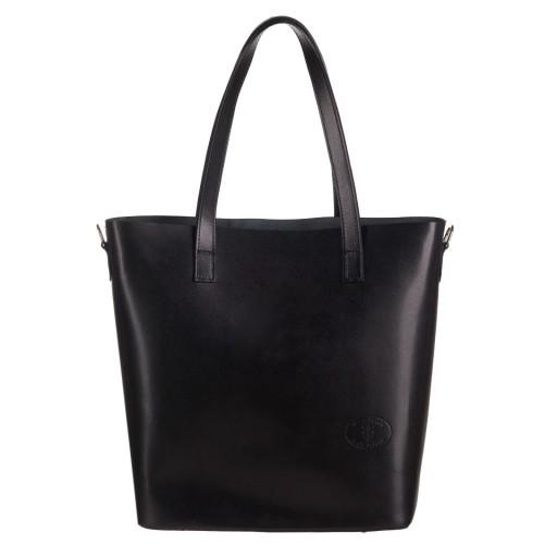 f700bb91f6086 WŁOSKA CZARNA SKÓRZANA TOREBKA SKÓRA shopper bag 6938123744 - Allegro.pl