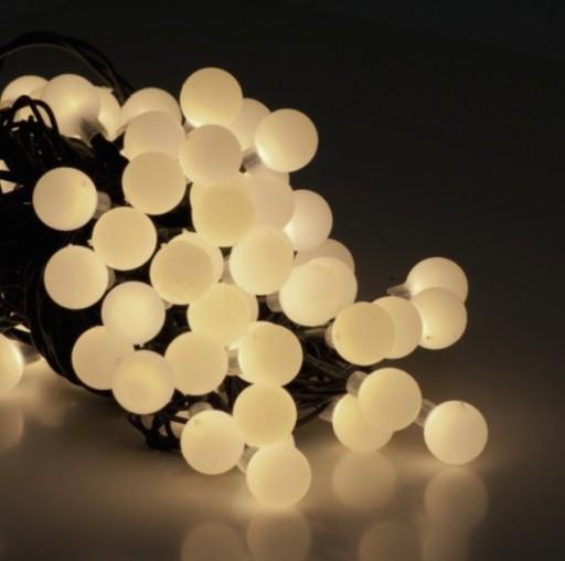 Kulki Ciepłe Kule Led Lampki Choinkowe Ciepła Biel