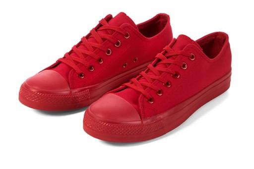 Buty sportowe TRAMPKI damskie tenisówki Czerwone