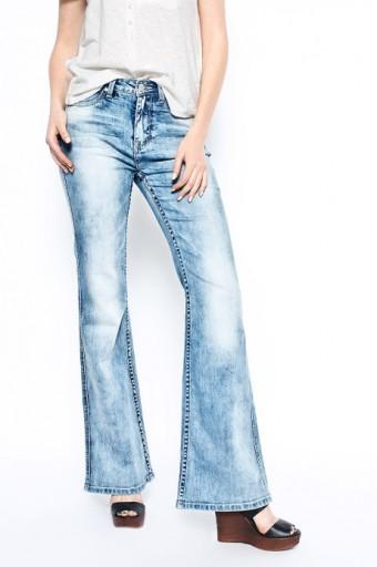 be7f1ee2 MEDICINE Spodnie damskie jeansy dzwony r. 34