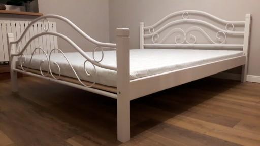 Nowość łóżko Metalowe 160x200 Białe I Czarne