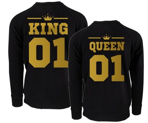 0eb81c030 BLUZY DLA PAR PREZENT WALENTYNKI KING QUEEN WZORY 7153341825 ...