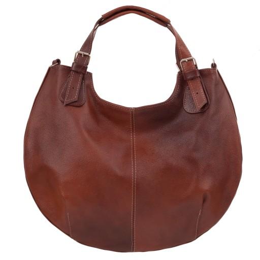 89996b5ad0d13 BRĄZOWA A4 SKÓRZANA TOREBKA 100% SKÓRA shopper bag 5134298165 ...