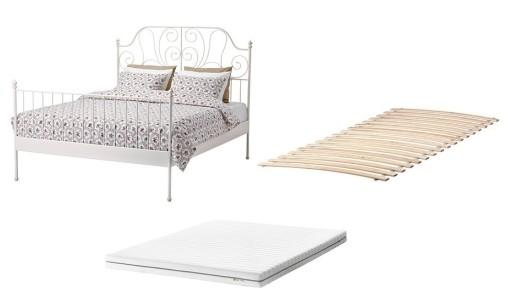 Ikea Leirvik łóżko Dno Materac 140x200 Cm