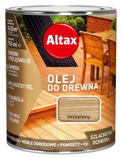 ALTAX- olej do drewna, tarasów 0,75 l, bezbarwny