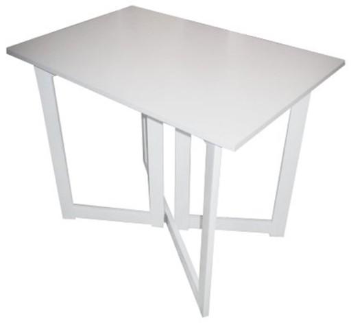 Stolik Składany 90x60cm Rozkładany Biały Mat Stół