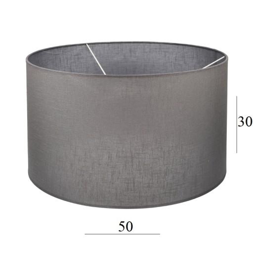 ABAŻUR duży walec do lampy 6W szary 5030 cm E27