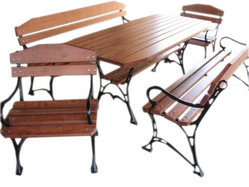 Meble Ogrodowe Drewniane Stol 4 Lawki 180cm Z32 6844543594