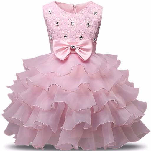 003fef7d CUDNA Wizytowa Sukienka 128-134 Wesele Urodziny
