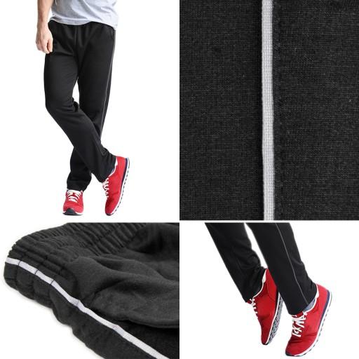 Spodnie Dresowe Bawełniane Męskie 0005 Czarny r L 10728320958 Odzież Męska Spodnie BY ZKNABY-3