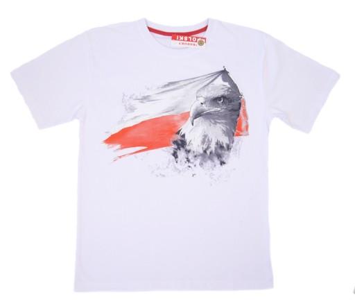 Podkoszulek Koszulka T Shirt Orzel Flaga Bialy M 7346283462 Allegro Pl