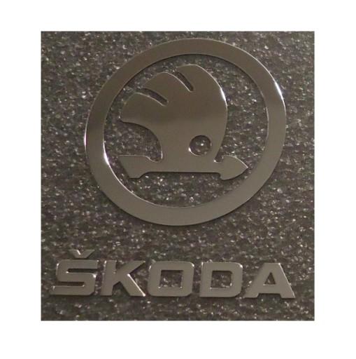 437 Naklejka SKODA Logo 30x36mm