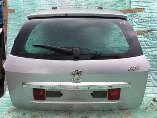 B154 Peugeot 407 kombi KLAPA BAGAŻNIKA Z SZYBĄ