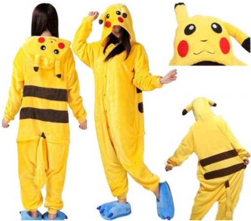 Pizama Pikachu Kigurumi Kombinezon 146 152 7171527692 Allegro Pl