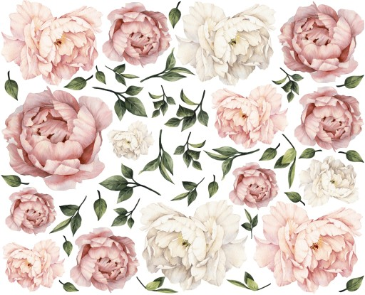 Peonie Kwiaty Piwonie Naklejki Na Sciane 160 Mega 7505249401