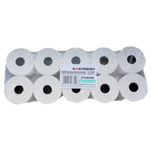 6eb761e3aac377 28mm 30m 10x ROLKI papier kasy fiskalnej RT02830W 7091098925 ...