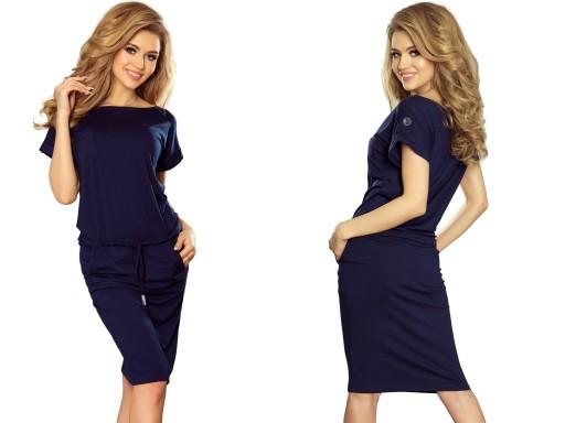 d7caaa1345 Eleganckie Sukienki Wizytowe Biznesowe 196-1 XL 42 7440916359 ...