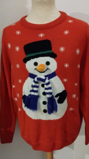 ŚWIĄTECZNY SWETR SWETER R.M/L THE CHRISTMAS WORKSH 10767982369 Odzież Męska Swetry IA RFFGIA-2