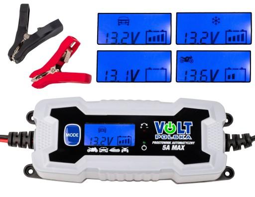 PROSTOWNIK ŁADOWARKA DO AKUMULATORA 6V 12V LCD 5A
