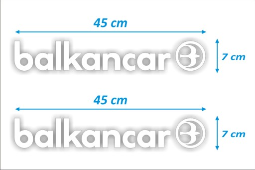 STICKER TRANSFERS - BALKANCAR - 2 PCS. - WHITE
