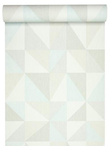 TAPETA - styl SKANDYNAWSKI pastelowe TRÓJKĄTY