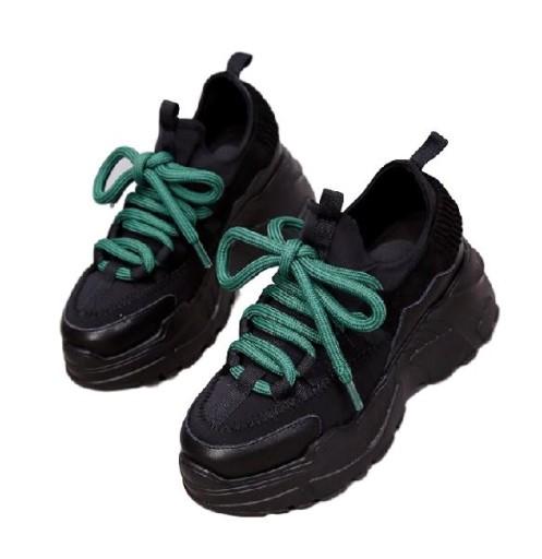 b888ffdf03f03 Sportowe damskie buty platforma wysoka podeszwa 40 7537199298 ...