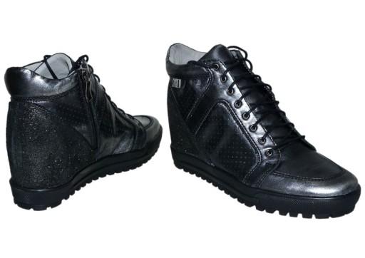 Sneakersy SIMEN 304 nikiel 38 Komfort Hit SMILE 7578928913