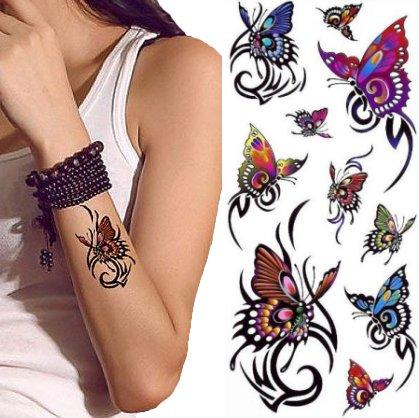 Tribale Motyle Wodny Tatuaż Z Motylami 124128