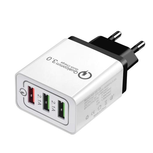 QUALCOMM Quick Charge 3.0 Szybka Ładowarka 3x USB