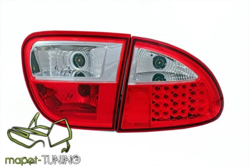 Lampy Tył Seat Leon 1m 99 04 Led Red White Diodowe