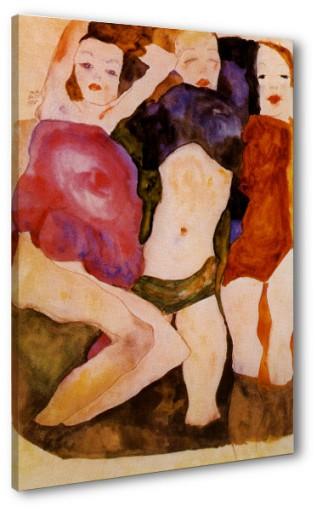 Egon Schiele, Trzy dziewczęta