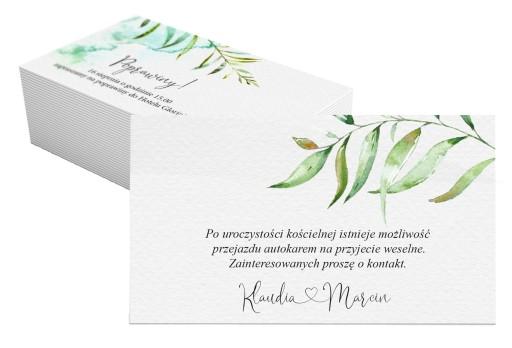 Bilecik do zaproszeń wierszyk botaniczne B5