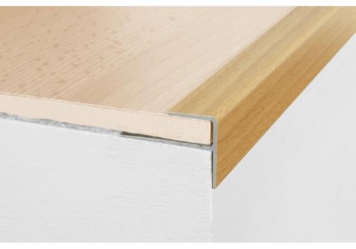 Aluminiowa listwa schodowa A60, 120cm SREBRO