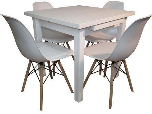 Mały Zestaw Do Kuchni Stół I 4 Krzesła Kubełkowe