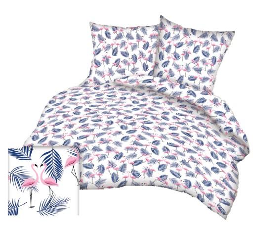 Pościel Bawełniana 140x200 Bawełna Flamingi 101gra 7405053557