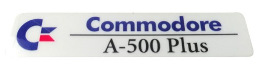 Sticker znaczek Amiga 500 Plus folia laminat