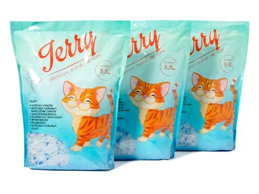 Żwirek silikonowy JERRY 8x3,8L 30,4L dla kota