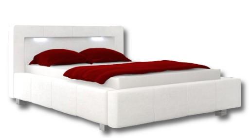 Białe łóżko Sypialniane 180x200 Pojemnikstelaż