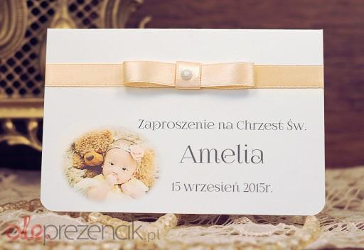 Zaproszenia Na Roczek Urodziny Dziecka Ze ZDJĘCIEM