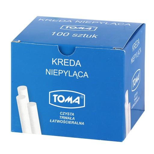 Kreda biała niepyląca okrągła TOMA OM-80200 100