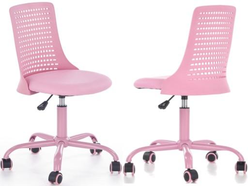 Krzesło Biurowe Młodzieżowe Różowe Pure Halmar 24h