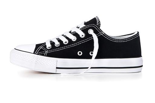 Buty dziecięce TRAMPKI niskie Tenisówki Czarne
