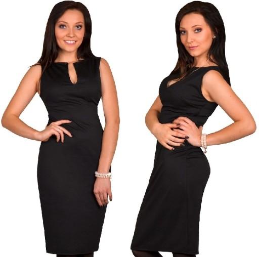 08ba06fd53 sukienka za kolana rozcięcie 40 CZARNA Dłuższa   7046394650 - Allegro.pl -  Więcej niż aukcje.